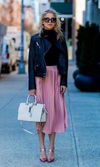 millennial pink skirt