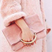 trico e clutch rosa millennial