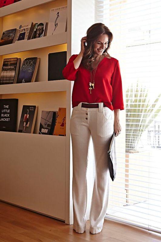 colar longo petitebff best trends dicas red calça branca