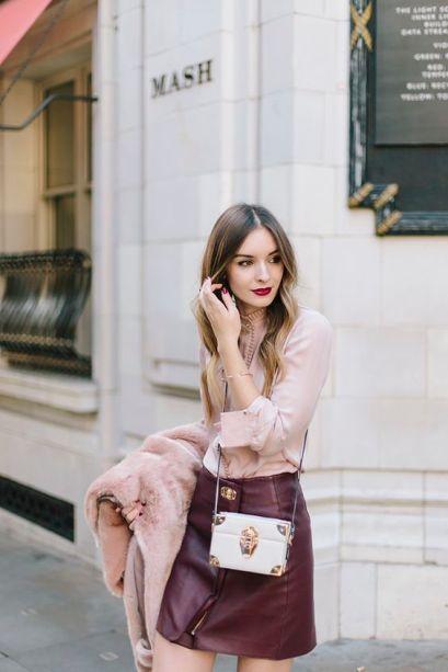 millennial pink + burgundy