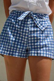 shorts vichy azul