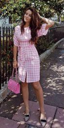vestido vichy rosa