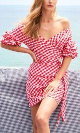 vestido vichy vermelho
